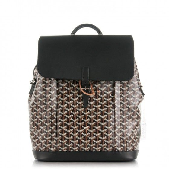 This is an authentic GOYARD Chevron Calfskin Alpin Backpack in Black. This versatile backpack is crafted of calfskin leather and Goyard chevron in black.