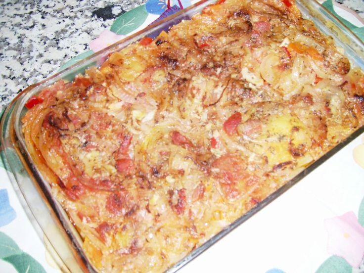 Peixe assado (abrótea) no forno com batatinha