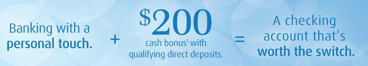 BMO Harris Bank $200 Personal Checking Account Bonus. #banks #bank #credit