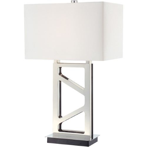 George Kovacs P795 613 Signature 30 Inch 100 Watt Polished Nickel Table Lamp Portable Light Table Lamp Contemporary Table Lamps Lamp