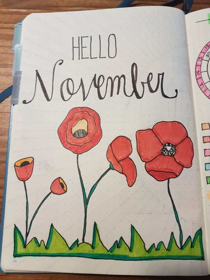 Pretty month pages are a great way to get those creative vibes flowing!