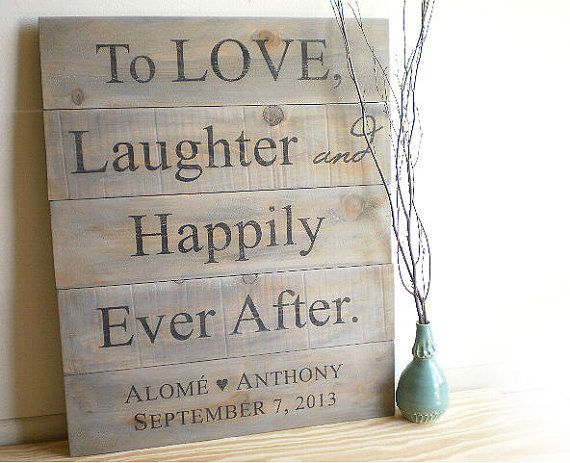 Custom Wedding Signs - Rustic Barn Wood Pallet - Country Farm Outdoor Weddings, Anniversary Gift, Personalized Fall & Winter Wedding Decor,