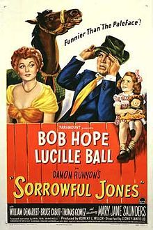 Sorrowful Jones //  Directed bySidney Lanfield  Produced byRobert L. Welch  Written byEdmund L. Hartmann  Melville Shavelson  from the story by  Damon Runyon  StarringBob Hope  Lucille Ball  William Demarest  Mary Jane Saunders  Music byRobert Emmett Dolan  CinematographyDaniel L. Fapp  Editing byArthur P. Schmidt  Distributed byParamount Pictures  Release date(s)June 5, 1949