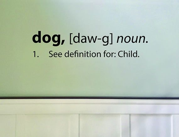 Funny Dog Definition Decal Pet Room Decor Pet themed decor   Home ...