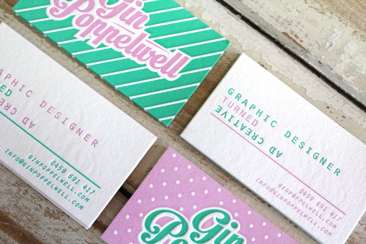 Little Peach - Gin Poppelwell {Letterpress}
