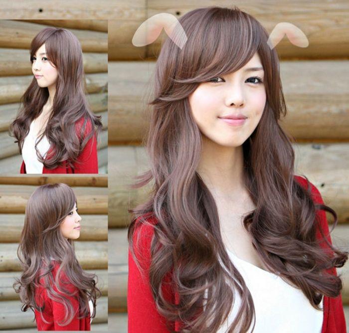 Korean Long Wavy Hairstyle Hair Styles Long Curly Haircuts