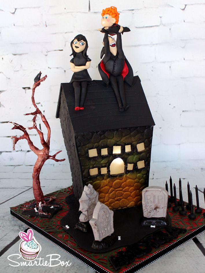 Hotel Transylvania 2 Cake with Dracula, Mavis and Dennis - SmartieBox Cake Studio