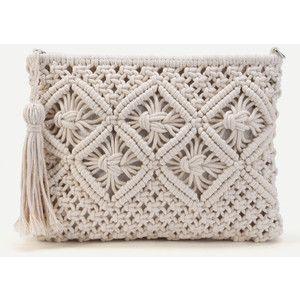 SheIn(sheinside) Crochet Clutch Bag With Tassel
