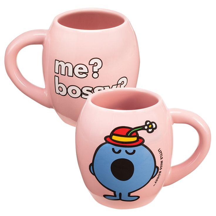Vandor - Mr. Men Little Miss Little Miss Bossy 18 oz. Oval Ceramic Mug