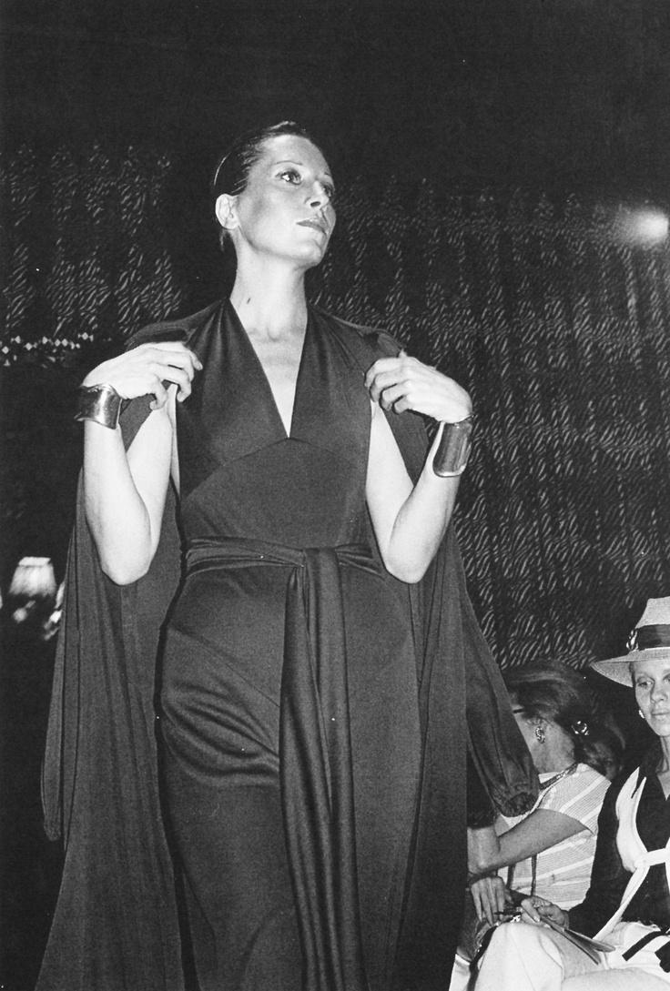 halston Elsa Peretti defiantly, confidently, glamorously wearing Halston.
