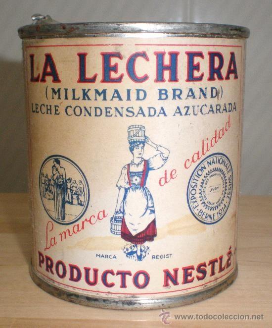ANTIGUO BOTE *LA LECHERA* -AÑO 1962- LECHE CONDENSADA AZUCARADA, 370 gr. SOCIEDAD NESTLÉ - Foto 1