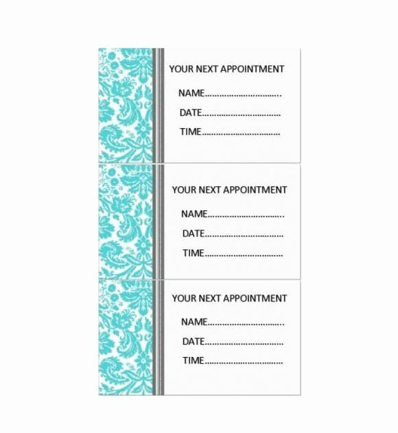 Free Printable Appointment Reminder Cards Lovely 40 Appointment Cards Templates Appointment Re Card Templates Free Appointment Cards Card Templates Printable
