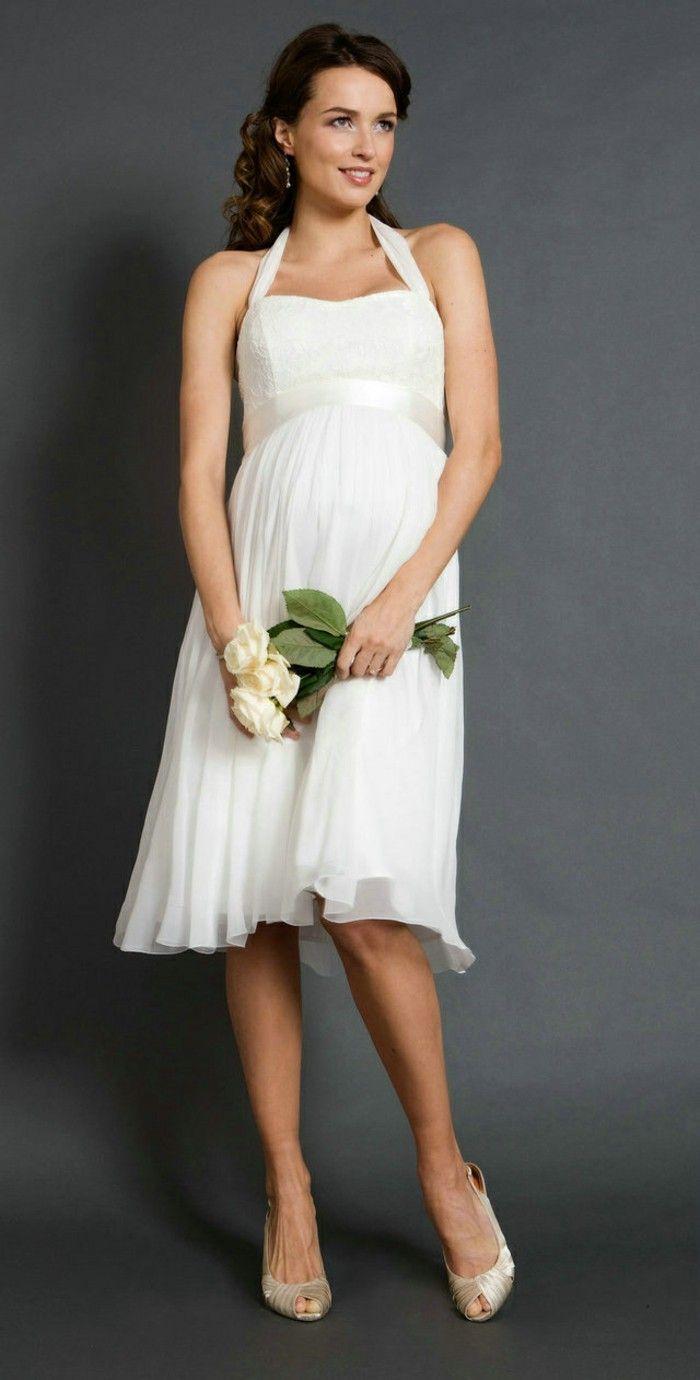 Mejores 15 imágenes de Vestidos de boda para embarazadas-Novias en ...