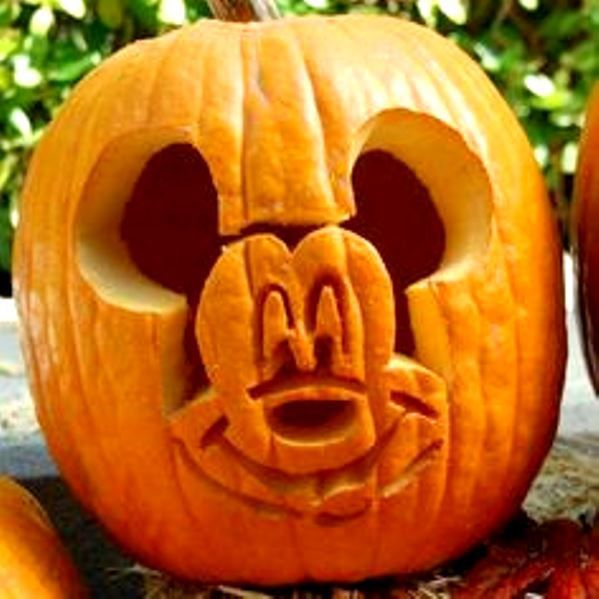 Attractive Mickey Mouse Halloween Pumpkin Carving Design Part 7