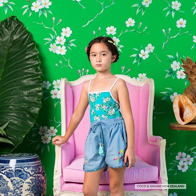 Not a fan or frills? Thats ok, our Lyric Leotard is just as beautiful. In Sea Glass Almond Blossom with a sweet rose trim or Eggshell with Periwinkle Hand Stitch, these leotards pair perfectly with our shorts and skirts this season in sizes 2 - 8 years.