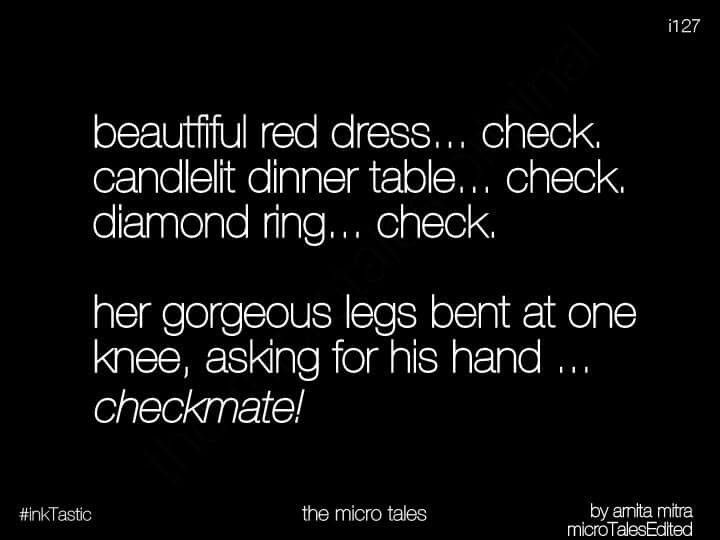 It's amazing when the girl proposes.
