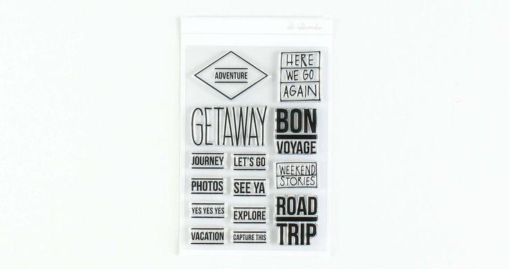 Ali Edwards Design Inc. | Travel Stamp Set