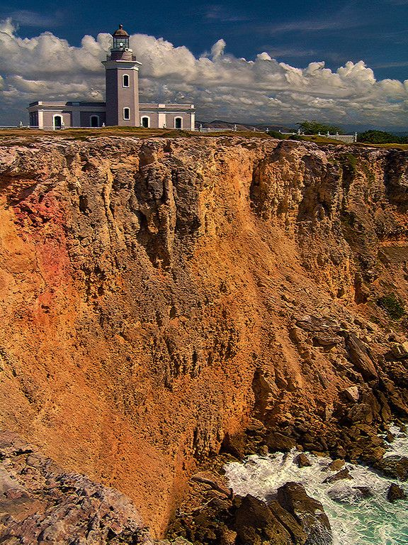 Lighthouse on the red cliffs of Cabo Rojo - Faro de Cabo Rojo, Puerto Rico