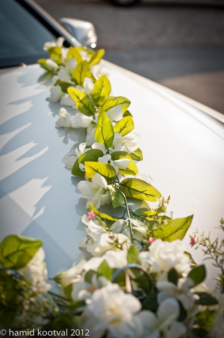 Floral Decoration On Brides Car.