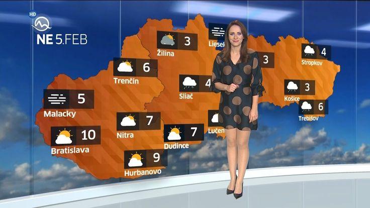 Lenka Vavrinčíková Slovakia Weather Presenter 4.2.2017