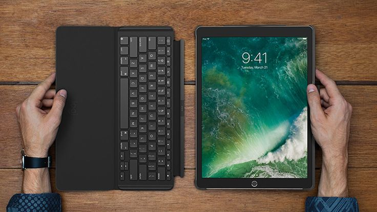Logitech has released a keyboard case for the new 10.5-inch iPad Pro. The Logitech Slim Combo features a hard case with an adjustable stand, a detachable full-size, backlit keyboard and a row of...