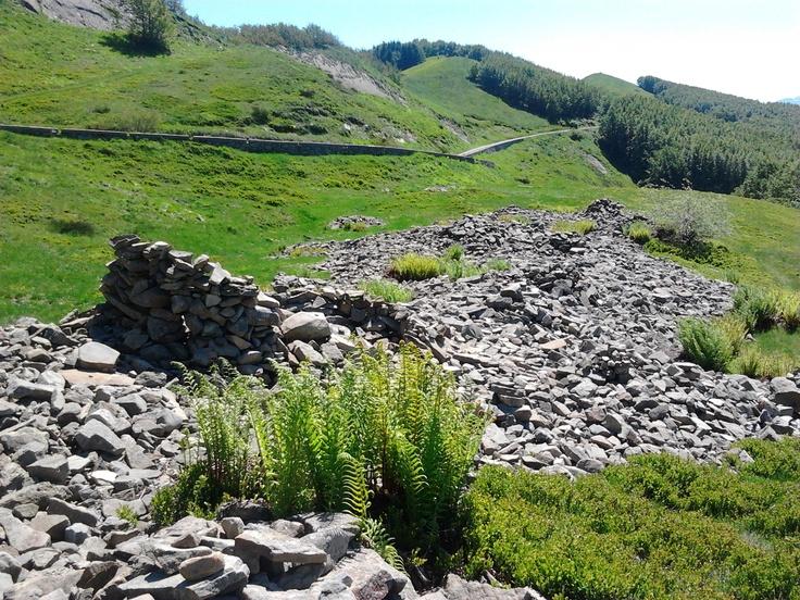 Il giro del Diavolo, the circle of devil, where  each stone was a penance for pilgrims, San Pellegrino in Alpe, Tuscany
