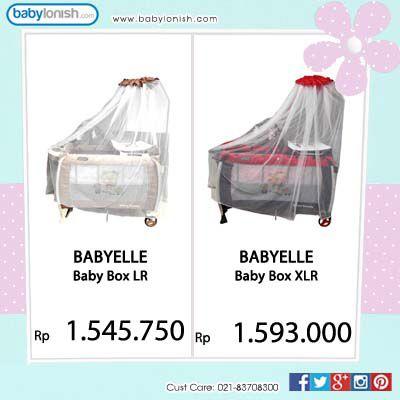 Dapatkan  box bayi istimewa dari Babyelle hanya untuk anak Anda. Tersedia 2 ukuran yaitu L dan XL.  Gratis ongkir Jabodetabek. www.babylonish.com