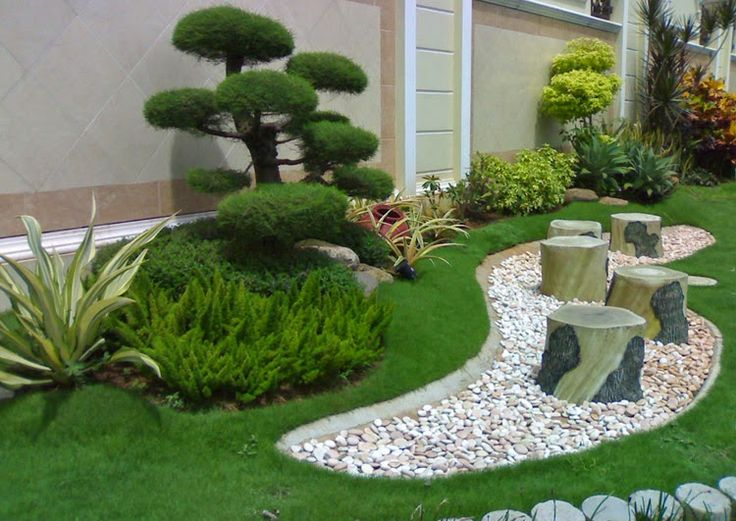 jardines pequeos con piedras y troncos buscar con google