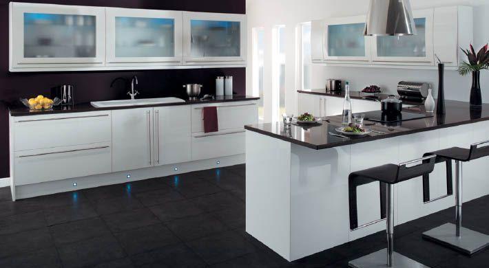White Gloss Kitchen Unit - 50% Off Kitchens Plus VAT Free