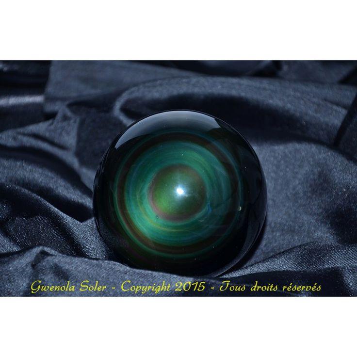 "Sphère d'Obsidienne ""Oeil Céleste"" n°1"