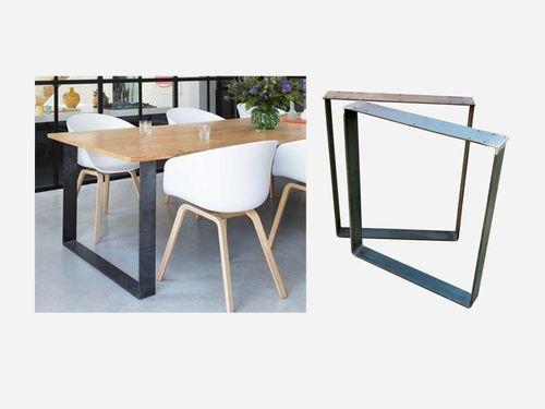 Underbar RH HOME - Bordsben i obehandlat stål | Casa Edsro | Modern crafts HB-27
