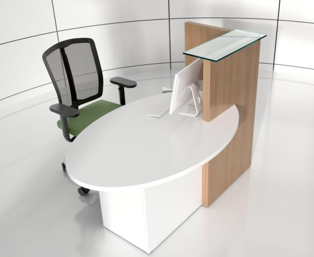 Surprising This Compact Ovo Reception Desk With Right Hand Top Is A Home Interior And Landscaping Ologienasavecom