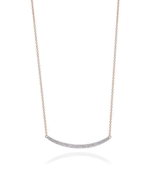 Accessories: Necklaces Monica Vinader Skinny Curve Diamond Necklace