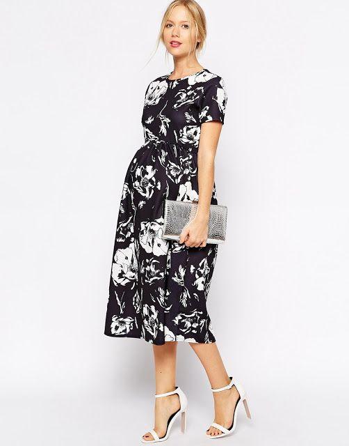 Espectaculares vestidos casuales para embarazadas                                                                                                                                                                                 Más