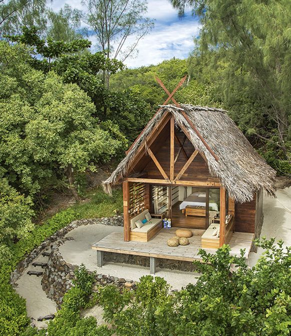 Constance Tsarabanjina Resort - Madagascar #glamping | Swank, private little huts on the beach, just steps away from the beautiful blue tropical ocean surrounding the Madagascar islands.