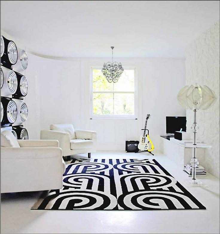 Bon Love This Rug   Black And White Living Room