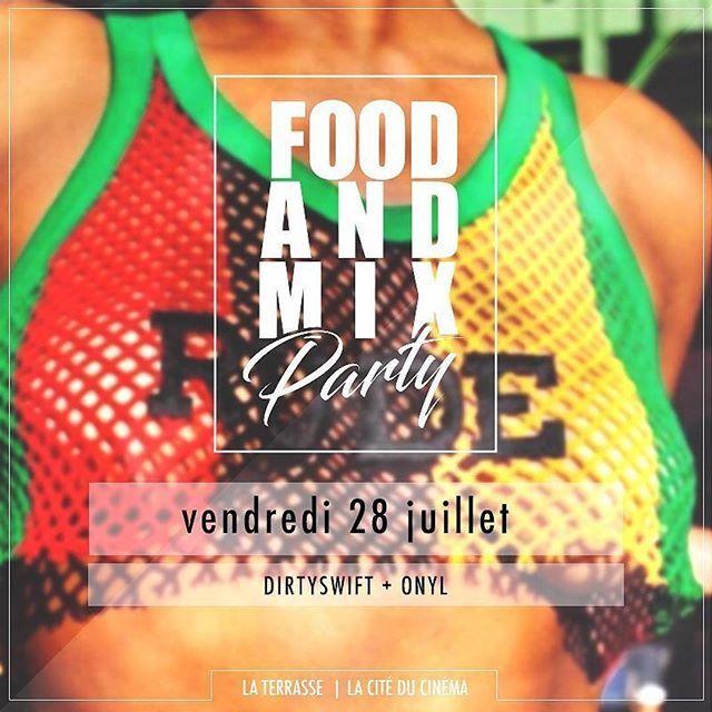 #Repost @foodandmixparty ・・・ Check tes réseaux apparemment il y a quelque chose qui se prépare vendredi 28 juillet à la Terrasse de la Cité du Cinéma ... #FOODANDMIXPARTY #FAMP #B2S #Mouv #TraceUrban #TraceTv #Paris #PartyNight #Music #Caribbean #HipHop #Lifestyle #Hangout #Fridaynight #Love #Friends #Dance #Ladiesnight #Nightout#Happy #Summer #Chill #Holiday #Instagood #Weekend #Food #Fashion #People