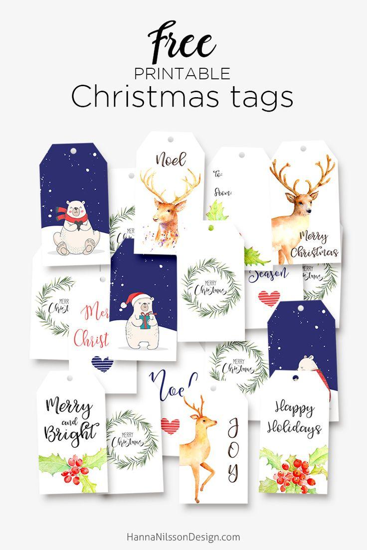 360 best christmas images on pinterest merry christmas christmas free printable christmas gift tags solutioingenieria Choice Image