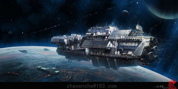 """Vouchsafing"" by #EnzheZhao.  #sciencefiction #scifi #spaceship"