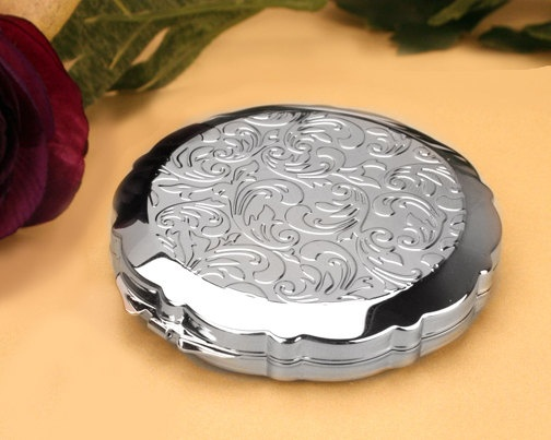 custom engraved Filigree Compact Mirror