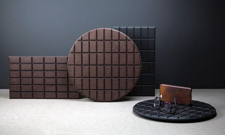 České studio LLEV navrhlo podložky Chocco sdesignem hořké amléčné čokolády