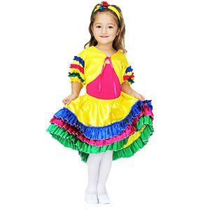 Brezilya Kız Çocuk Kostümü 7-9 Yaş, doğum günü elbiseleri 8 yaş