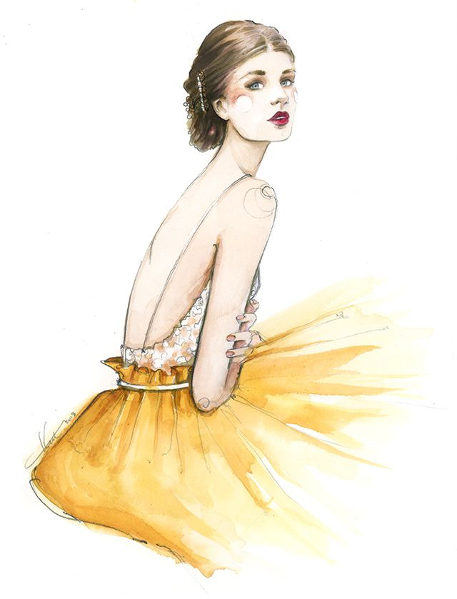 Paper Fashion   Summer Gold   Katie Rodgers