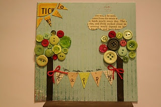 You make me happy card love the button trees: Crafty Stuff, Card Contest, Button Crafts, Pockets, Craft Ideas, Pocket Full, Button Tree, Crafty Ideas Cards
