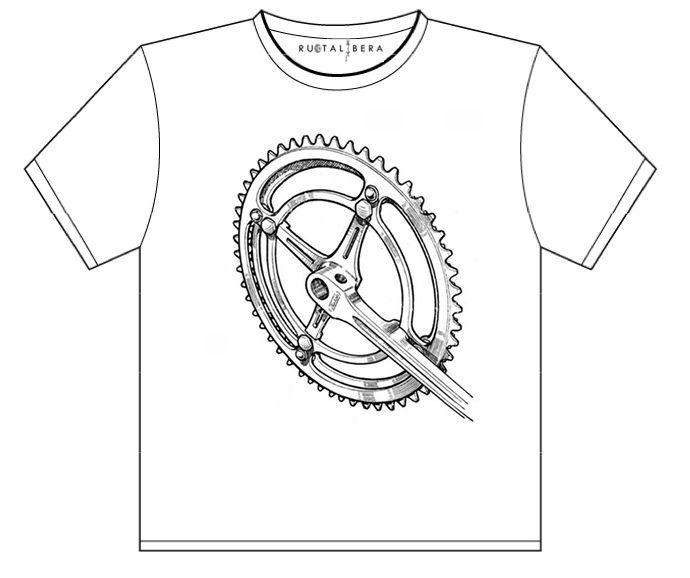 RUOTALIBERA Men t-shirt Modello/Model: Crank Colore/Colour: bianco/white taglia/size: S,M,L