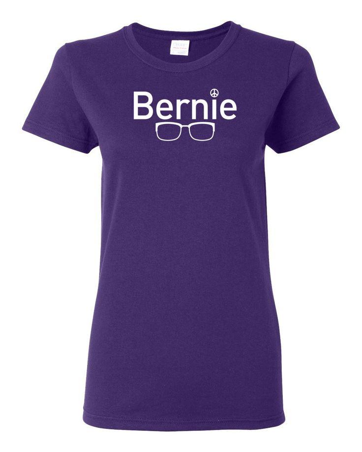 """Bernie"" Women's Purple Short Sleeve T-Shirt"