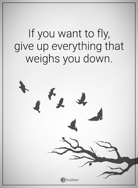 If you want to fly, give up everything that weighs you down. #powerofpositivity #positivewords #positivethinking #inspirationalquote #motivationalquotes #quotes #life #love #hope #faith #respect #fly #weighs #giveup #letgo #moveon
