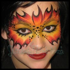 fire face paint - Google Search