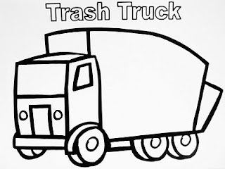 coloring page Garbage Truck Birthday Pinterest