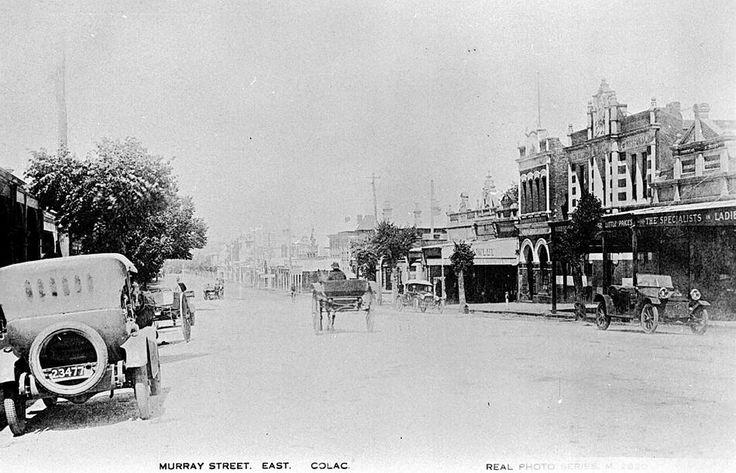 Town of Colac, Victoria, Australia - 1925. ... Image courtesy of Museum Victoria